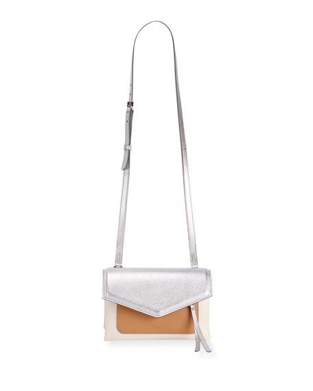 Givenchy Duetto Colorblock Flap-Top Crossbody Bag
