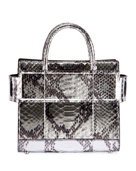 Givenchy Horizon Mini Laminated Python Satchel Bag