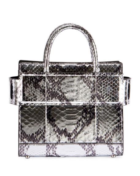 Horizon Mini Laminated Python Satchel Bag