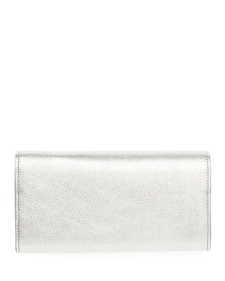 Pandora Metallic Long Flap Wallet