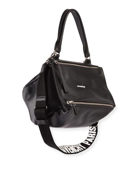 Givenchy Pandora Small Logo-Strap Satchel Bag