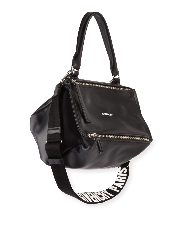fe12d875d7 Givenchy Pandora Small Logo-Strap Satchel Bag | Neiman Marcus
