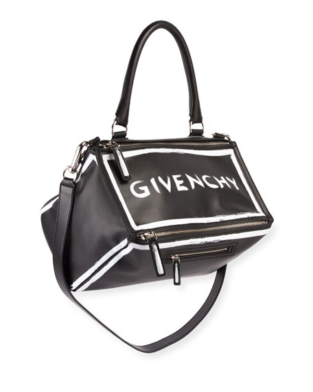 Givenchy Pandora Medium Graffiti Satchel Bag