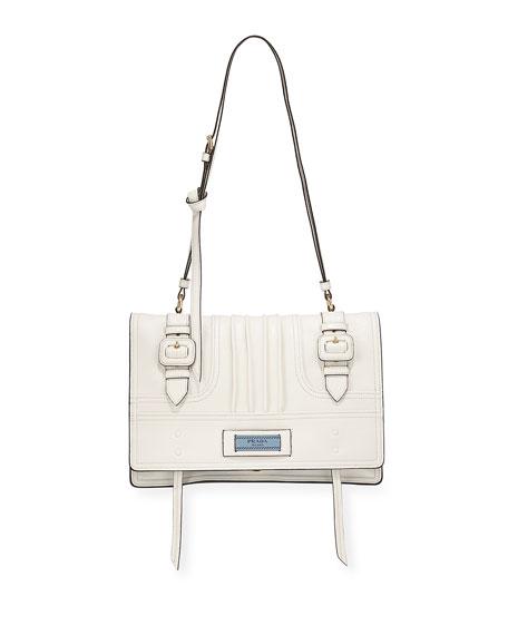 Prada Medium Etiquette Patch Shoulder Bag