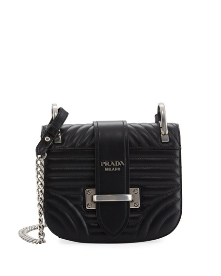 Prada Impunture Cahier Quilted Small Shoulder Bag
