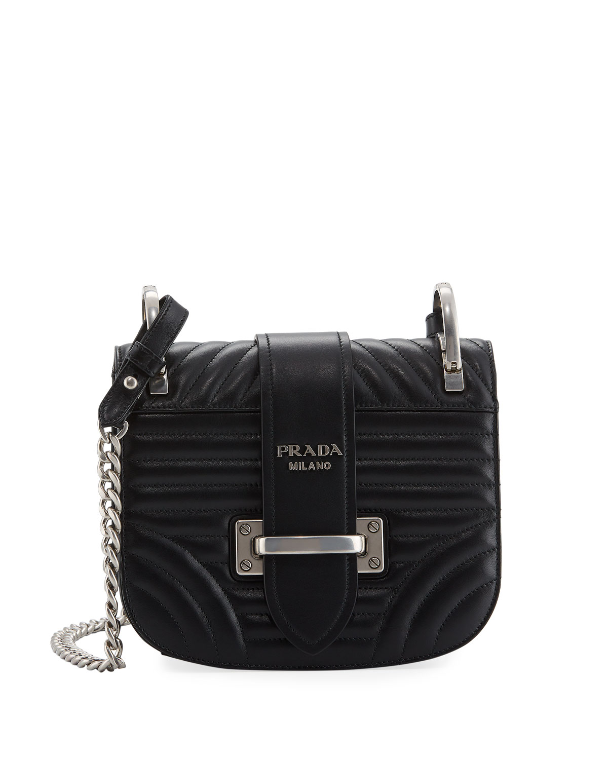16cd089b413 Prada Impunture Cahier Quilted Small Shoulder Bag