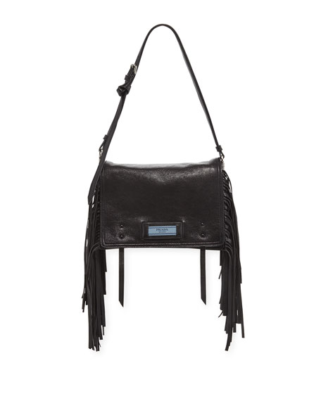 Glace Etiquette Fringe Shoulder Bag
