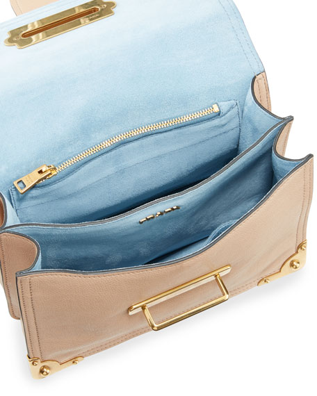 Glace Cahier Small Calf Shoulder Bag