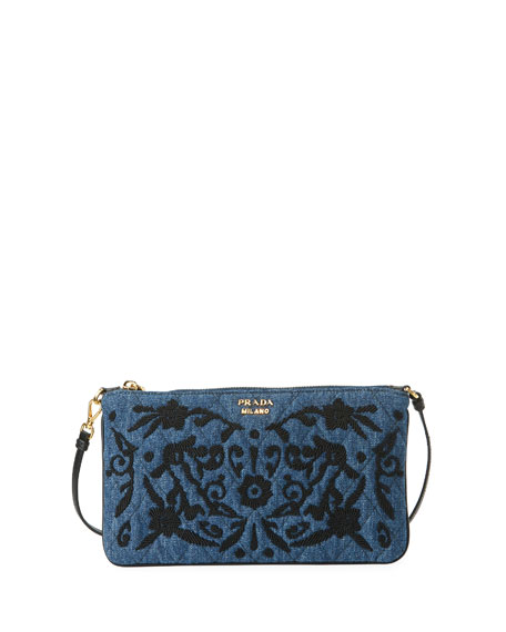 Denim Small Pouch Clutch Bag