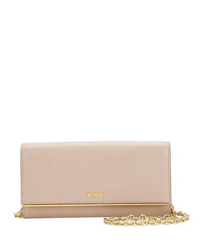 Saffiano Shine Continetal Wallet