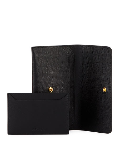 Saffiano Shine French Wallet