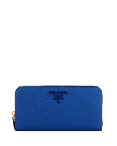 Saffiano Shine Zip-Around Wallet