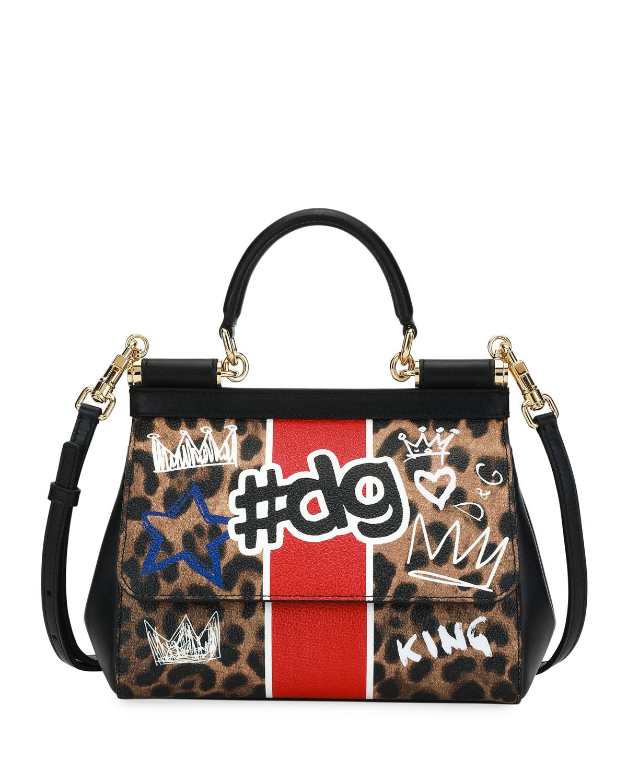 f2f3f92dae Dolce   Gabbana Sicily DG Graffiti Small Satchel Bag