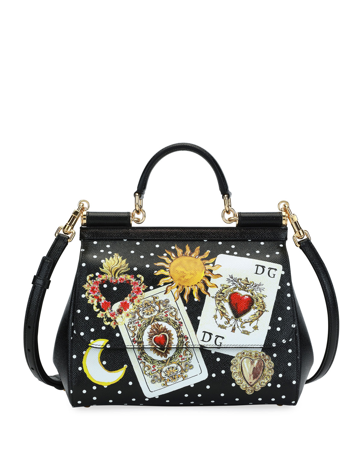 cc1b823aef87 Dolce   Gabbana Sicily St. Dauphine Stampata Top Handle Bag