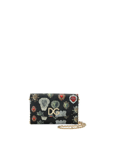 Dauphine Sacred Hearts Stampata Wallet On a Chain