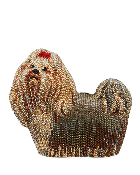 Judith Leiber Couture Charlie Yorkie Dog Perla Clutch