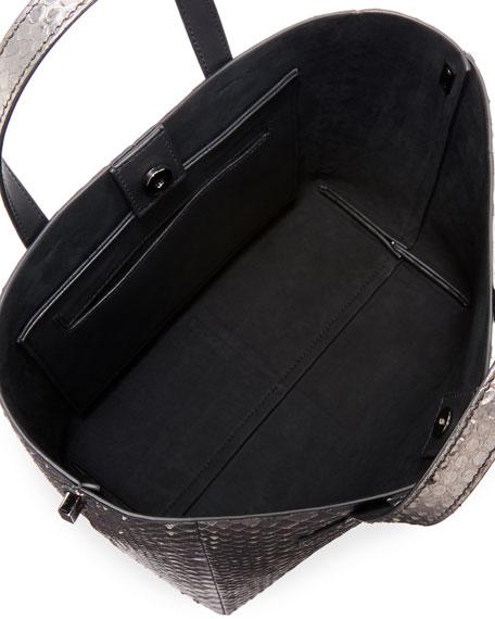T Tote Mini Python Crossbody Bag