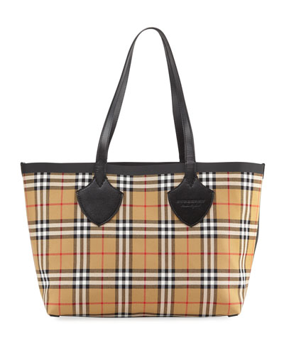 Medium Reversible Bonded Tartan Check Tote Bag