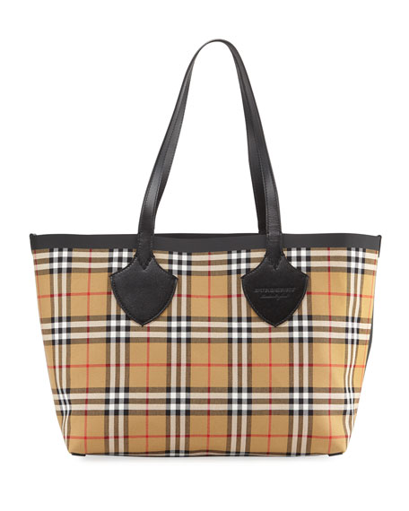 Medium Giant House Reversible Tote In Vintage Check, Multi