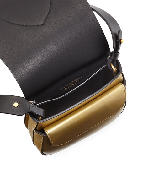 Mini Metallic Leather Satchel Bag