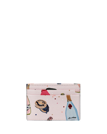 champagne & caviar card case