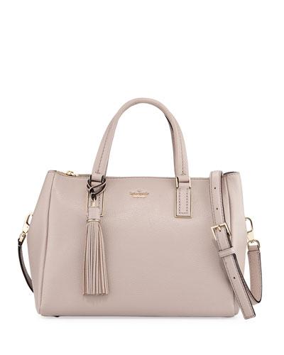 alena pebbled leather top handle bag