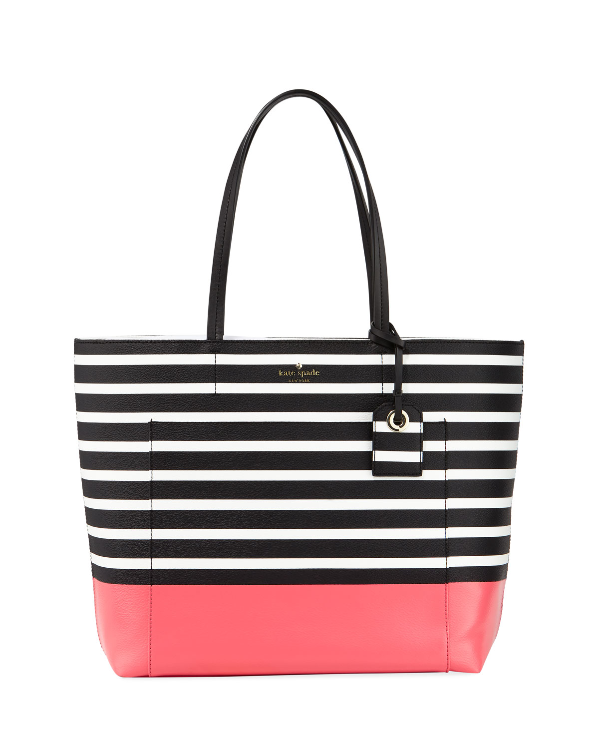 8e6c1664320 kate spade new york riley two-toned striped tote bag