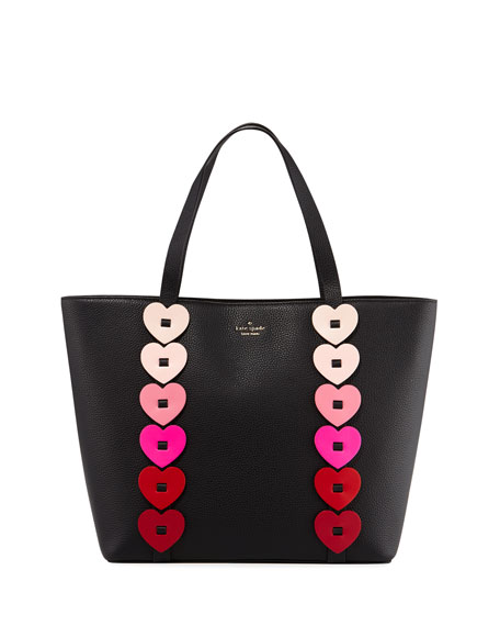 kate spade new york ombré heart-link tote bag,