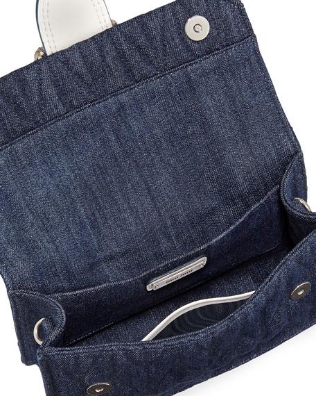 Lady Quilted Denim Shoulder Bag