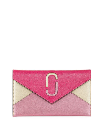 Liaise Metallic Envelope Clutch Bag