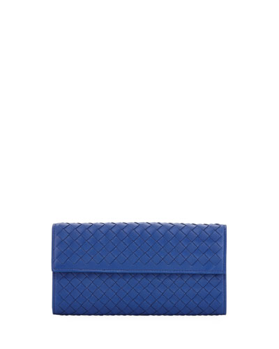 Large Intrecciato Continental Zip Wallet