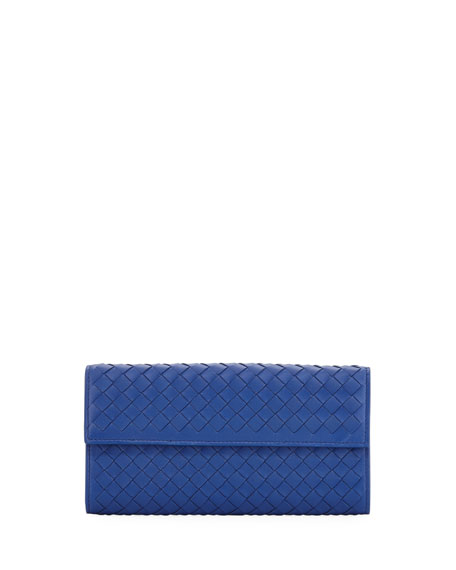 Large Intrecciato Continental Flap Wallet