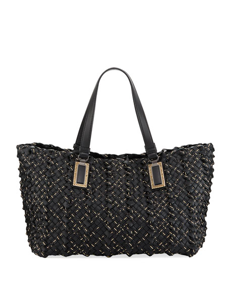 Lido Chain Woven Tote Bag