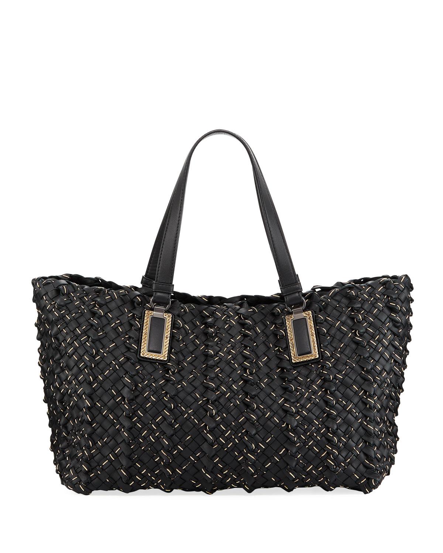 3a5c31414187 Bottega Veneta Lido Chain Woven Tote Bag