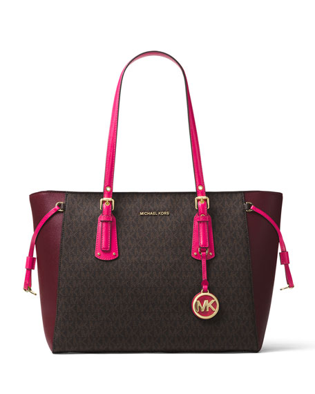 MICHAEL Michael Kors Voyager Medium Colorblock Shoulder Tote