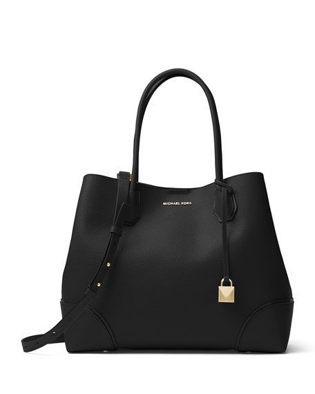 Annie Large Pebbled Snap Tote Bag