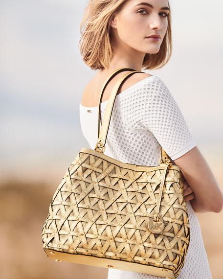 Brooklyn XL Lattice Denim Grab Bag
