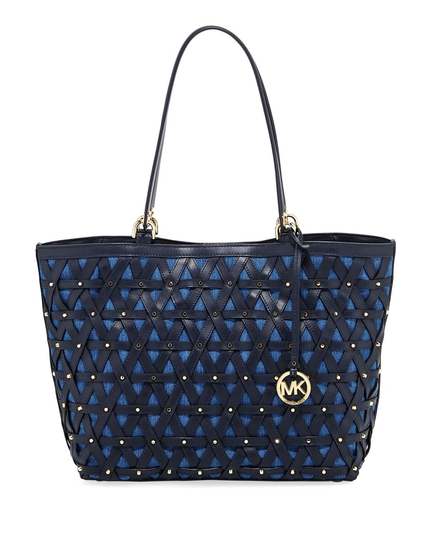 ea6deefc919c MICHAEL Michael Kors Brooklyn XL Lattice Denim Grab Bag