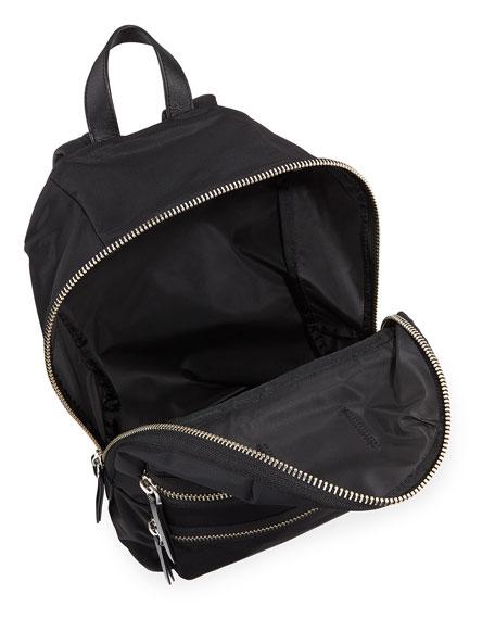 Zip Nylon Biker Backpack