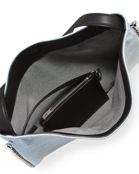 Roxy Bleached Denim Hobo Bag
