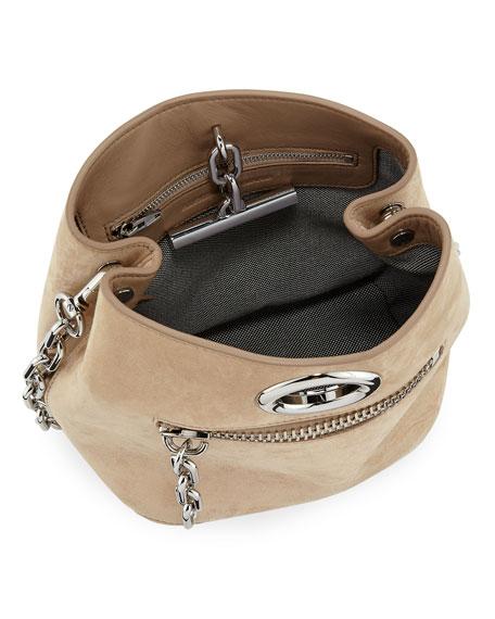 Riot Suede Crossbody Bag, Cashmere