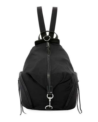 Rebecca Minkoff Washed Nylon Multi-Zip Backpack, Black