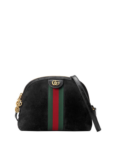 Gucci Linea Dragoni Suede Small Chain Shoulder Bag