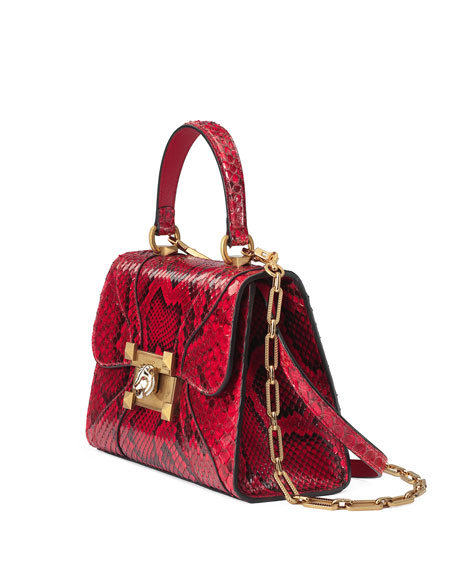 Osiride Small Python Top-Handle Bag