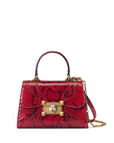 Gucci Osiride Small Python Top-Handle Bag
