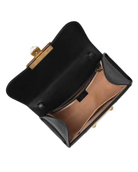 Iside Small GG Supreme Top-Handle Bag with Golden Wave Detail