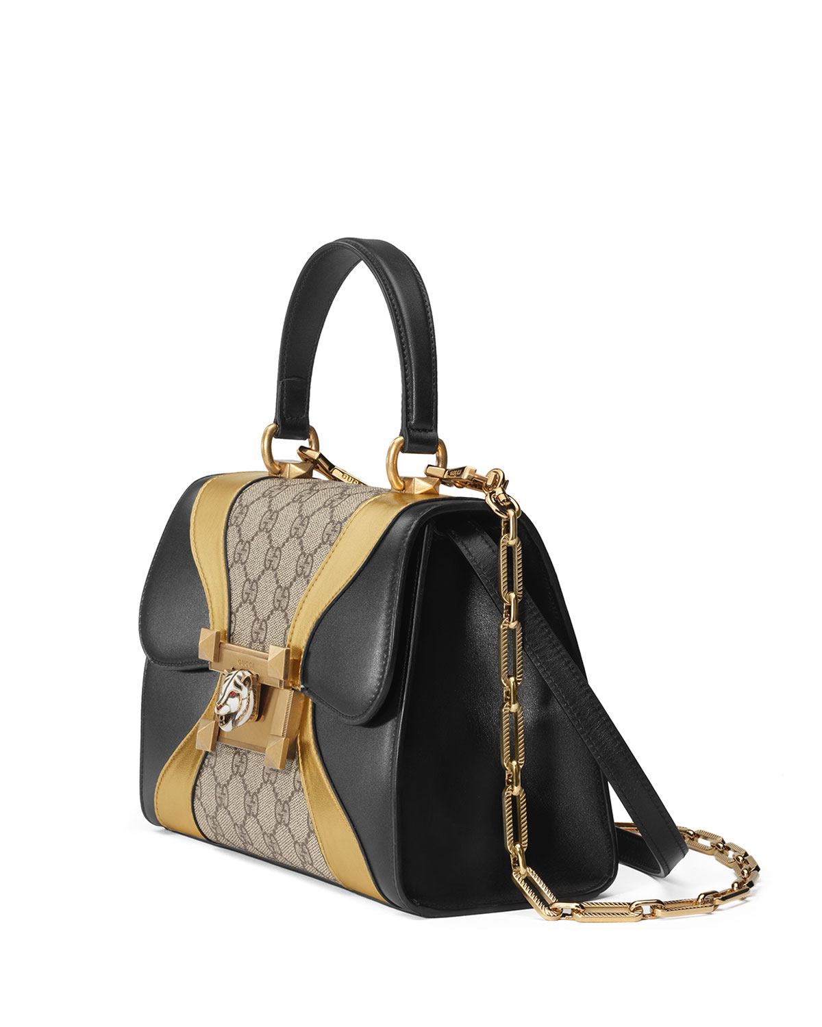 Gucci Osiride Small GG Supreme Top-Handle Bag with Golden Wave Detail pkO8BNJUNh