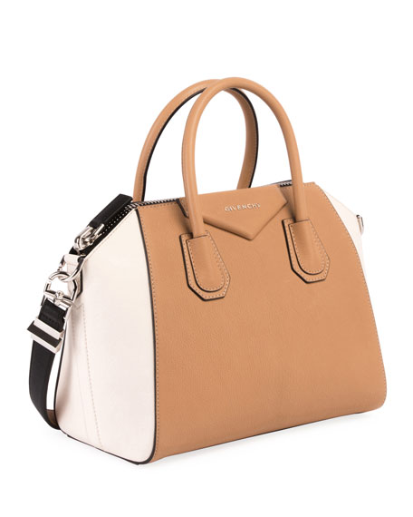 Antigona Small Bicolor Satchel Bag