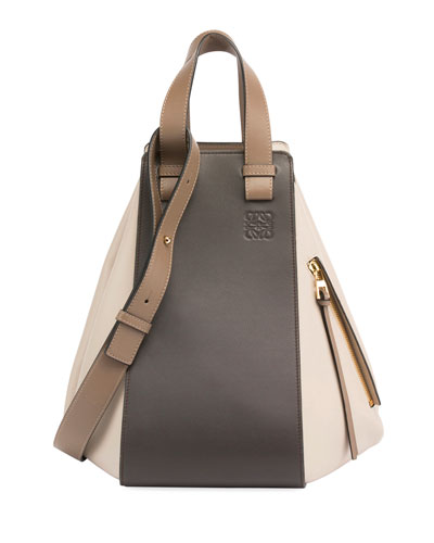 Hammock Colorblock Leather Tote Bag
