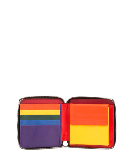 Rainbow Bi-Fold Coin Wallet
